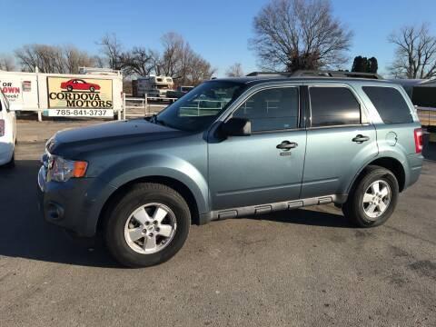2012 Ford Escape for sale at Cordova Motors in Lawrence KS