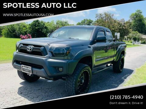 2014 Toyota Tacoma for sale at SPOTLESS AUTO LLC in San Antonio TX