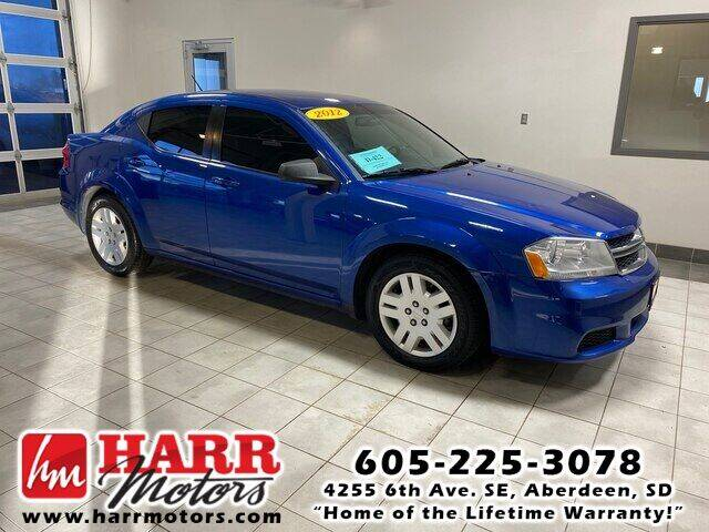 2012 Dodge Avenger for sale at Harr's Redfield Ford in Redfield SD