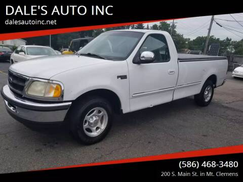 1998 Ford F-150 for sale at DALE'S AUTO INC in Mt Clemens MI