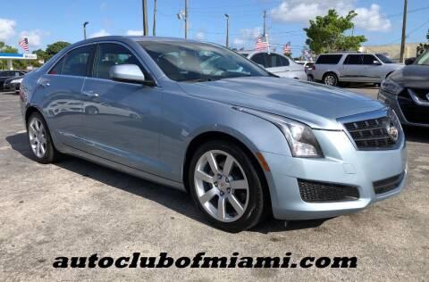 2013 Cadillac ATS for sale at AUTO CLUB OF MIAMI in Miami FL