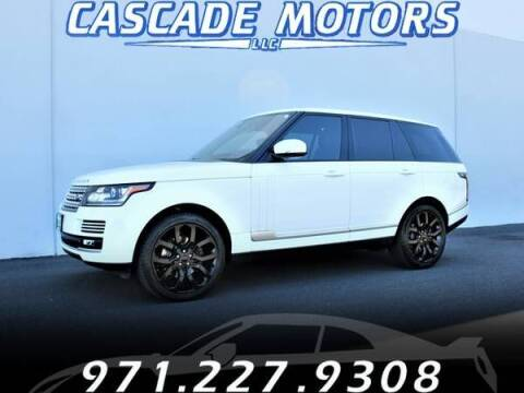 2015 Land Rover Range Rover for sale at Cascade Motors in Portland OR