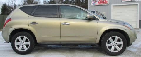 2006 Nissan Murano for sale at Hilltop Auto in Prescott MI
