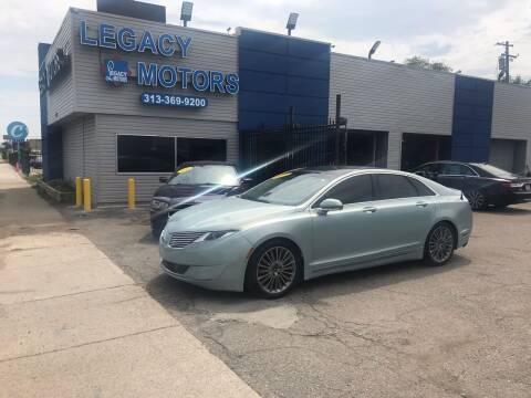 2013 Lincoln MKZ Hybrid for sale at Legacy Motors in Detroit MI