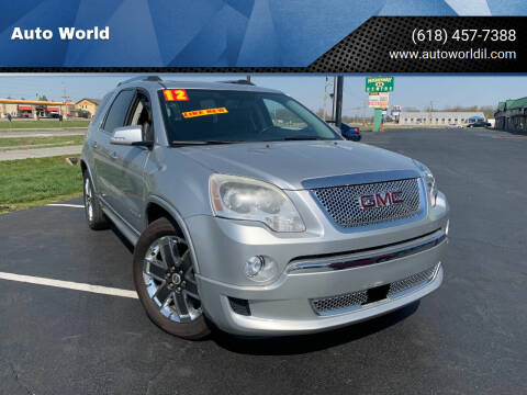 2012 GMC Acadia for sale at Auto World in Carbondale IL