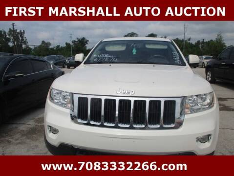 2011 Jeep Grand Cherokee for sale at First Marshall Auto Auction in Harvey IL
