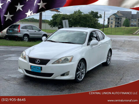2008 Lexus IS 250 for sale at Central Union Auto Finance LLC in Austin TX