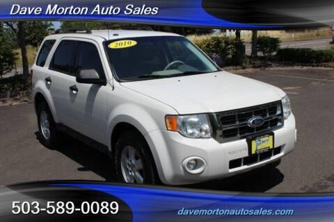 2010 Ford Escape for sale at Dave Morton Auto Sales in Salem OR