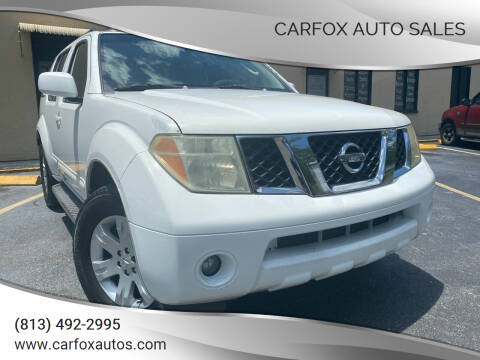 2006 Nissan Pathfinder for sale at Carfox Auto Sales in Tampa FL