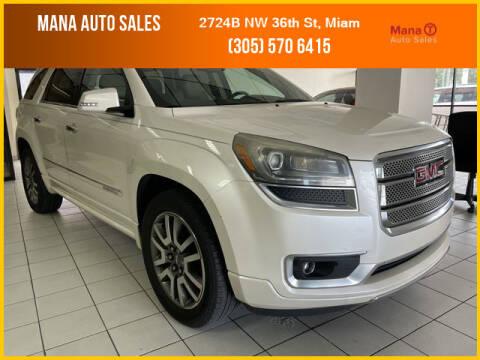 2013 GMC Acadia for sale at MANA AUTO SALES in Miami FL