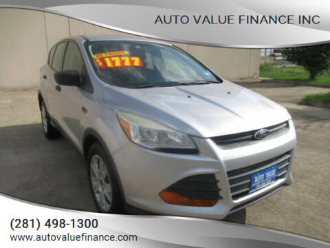 2014 Ford Escape for sale at AUTO VALUE FINANCE INC in Stafford TX