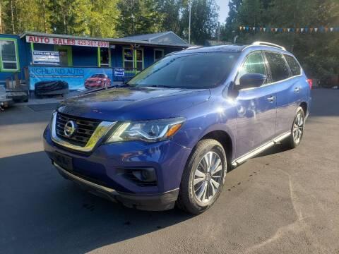 2019 Nissan Pathfinder for sale at HIGHLAND AUTO in Renton WA