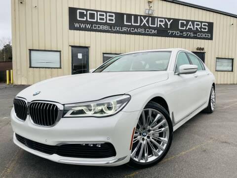 2017 BMW 7 Series for sale at Cobb Luxury Cars in Marietta GA