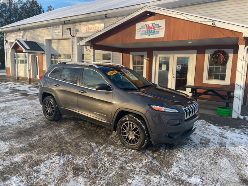 2015 Jeep Cherokee for sale at M&A Auto in Newport VT