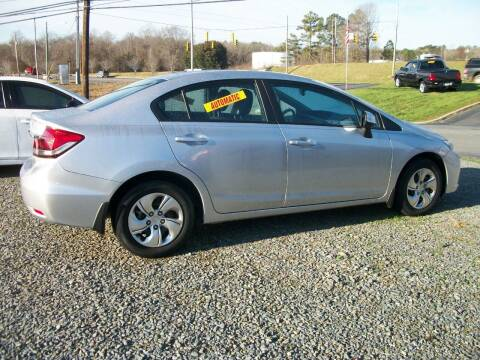 2013 Honda Civic for sale at Lentz's Auto Sales in Albemarle NC