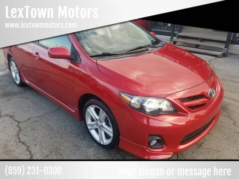 2013 Toyota Corolla for sale at LexTown Motors in Lexington KY