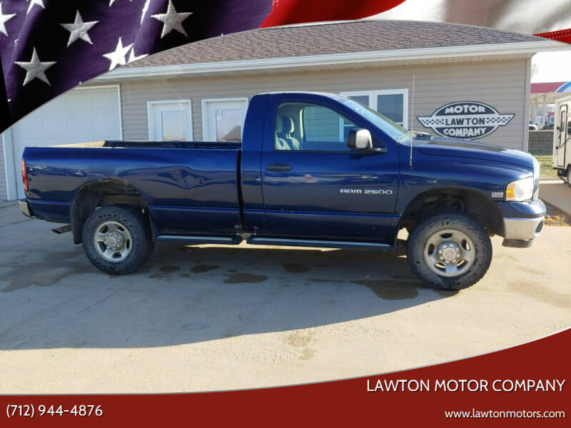 2004 Dodge Ram Pickup 2500 for sale at Lawton Motor Company in Lawton IA