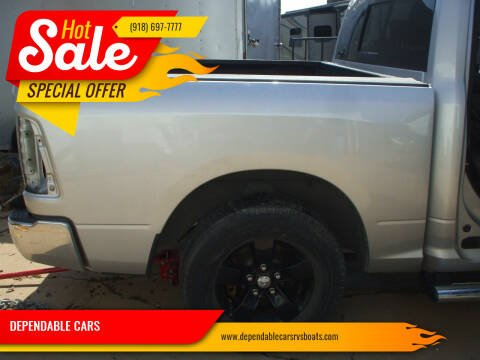 2016 Dodge RAM 1500+6ft BED & TAILGATE for sale at DEPENDABLE CARS in Mannford OK