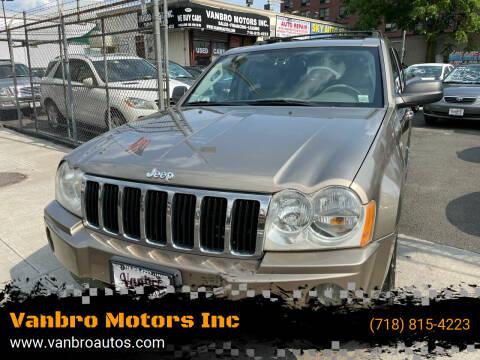 2006 Jeep Grand Cherokee for sale at Vanbro Motors Inc in Staten Island NY