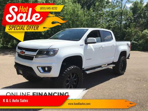 2016 Chevrolet Colorado for sale at K & L Auto Sales in Saint Paul MN