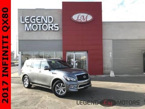 2017 Infiniti QX80 for sale at Legend Motors of Detroit - Legend Motors of Ferndale in Ferndale MI