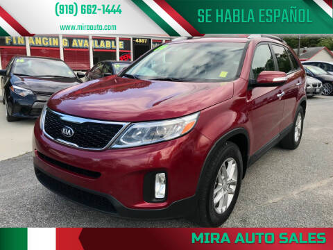 2014 Kia Sorento for sale at Mira Auto Sales in Raleigh NC