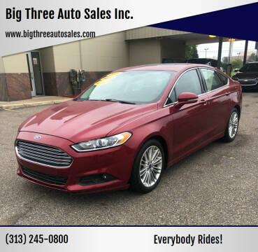 2016 Ford Fusion for sale at Big Three Auto Sales Inc. in Detroit MI