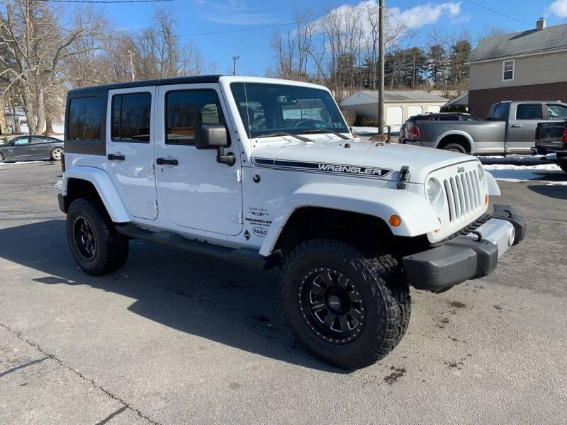 2013 Jeep Wrangler Unlimited for sale at Twin Rocks Auto Sales LLC in Uniontown PA