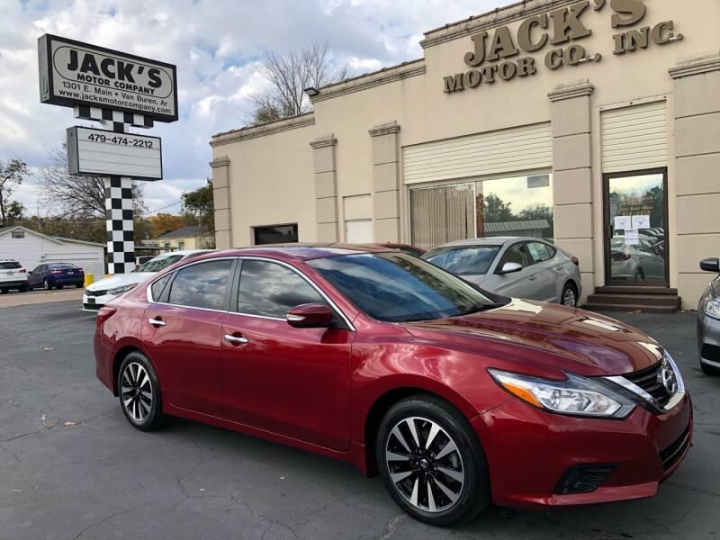 2018 Nissan Altima for sale at JACK'S MOTOR COMPANY in Van Buren AR