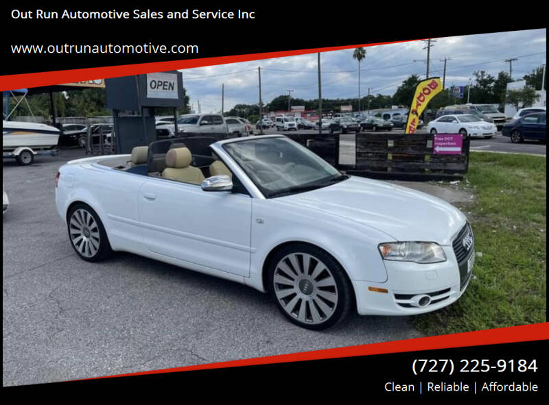 2007 Audi A4 for sale at Out Run Automotive Sales and Service Inc in Tampa FL