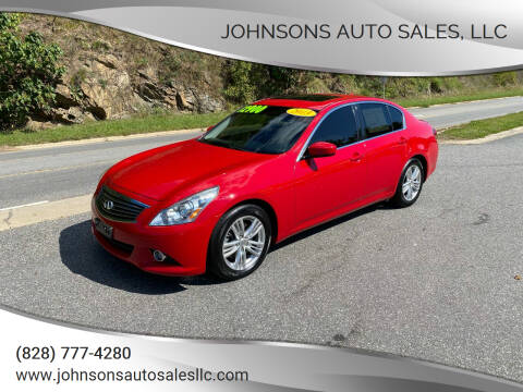 2013 Infiniti G37 Sedan for sale at Johnsons Auto Sales, LLC in Marshall NC