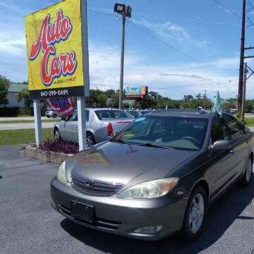 2003 Toyota Camry for sale at Auto Cars in Murrells Inlet SC