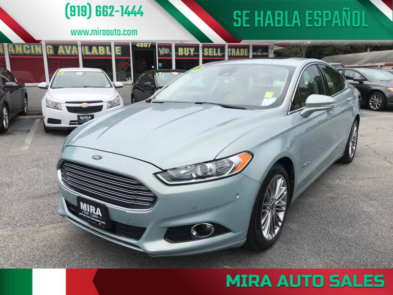 2013 Ford Fusion Hybrid for sale at Mira Auto Sales in Raleigh NC