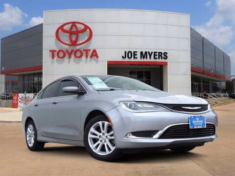 2015 Chrysler 200 for sale at Joe Myers Toyota PreOwned in Houston TX