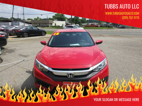 2018 Honda Civic for sale at Tubbs Auto LLC in Tuscaloosa AL