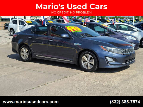 2014 Kia Optima Hybrid for sale at Mario's Used Cars in Houston TX