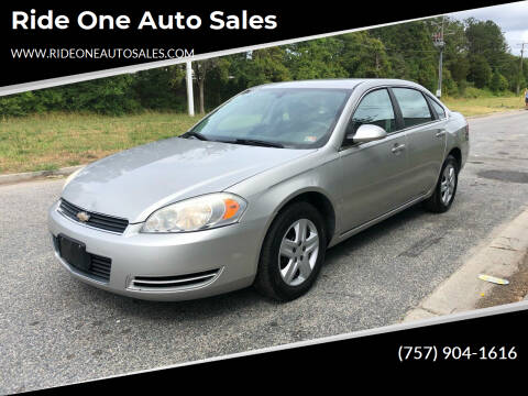 2008 Chevrolet Impala for sale at Ride One Auto Sales in Norfolk VA