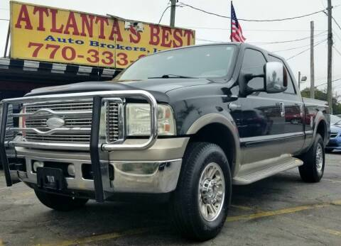 2006 Ford F-250 Super Duty for sale at Atlanta's Best Auto Brokers in Marietta GA