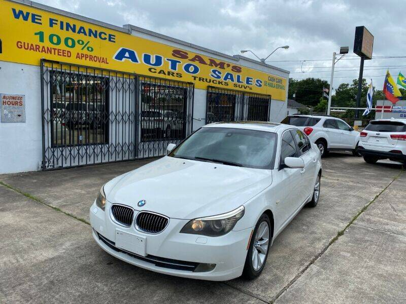 2009 BMW 5 Series for sale at Sam's Auto Sales in Houston TX
