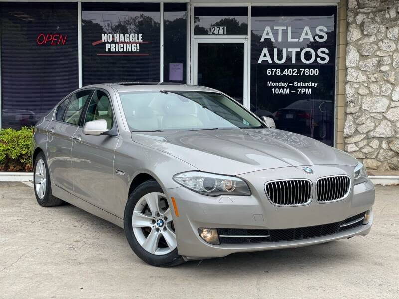 2011 BMW 5 Series for sale at ATLAS AUTOS in Marietta GA