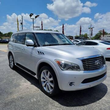 2013 Infiniti QX56 for sale at America Auto Wholesale Inc in Miami FL