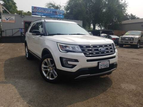 2017 Ford Explorer for sale at Golden Gate Auto Sales in Stockton CA