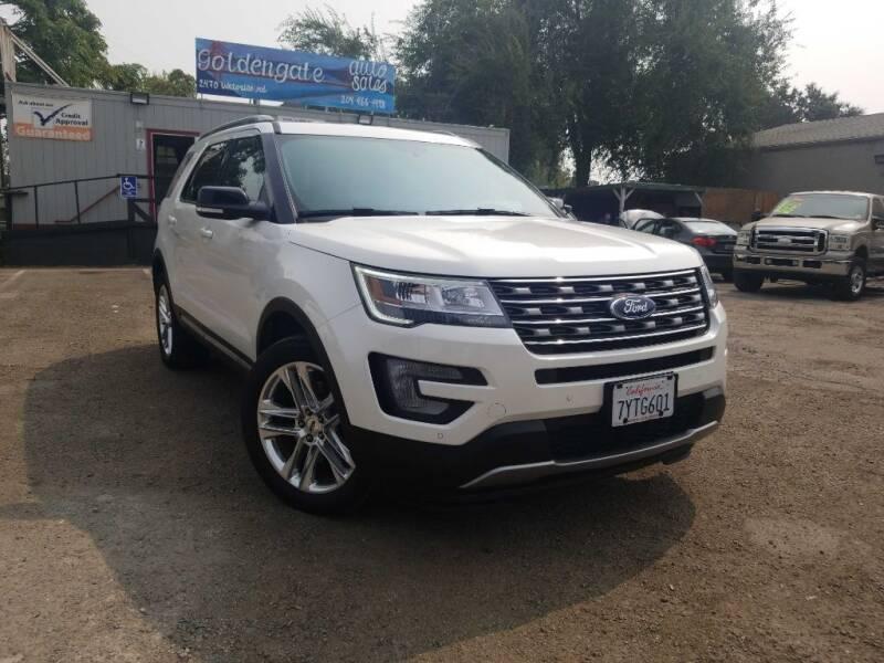 2017 Ford Explorer for sale at Golden Gate Auto Sales in Stockton CA