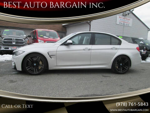 2015 BMW M3 for sale at BEST AUTO BARGAIN inc. in Lowell MA