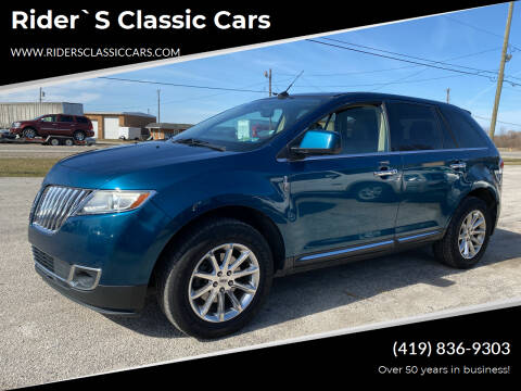 2011 Lincoln MKX for sale at Rider`s Classic Cars in Millbury OH
