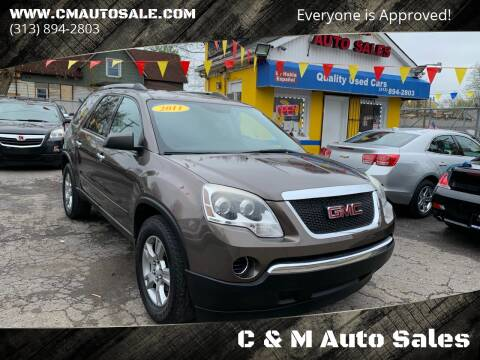 2011 GMC Acadia for sale at C & M Auto Sales in Detroit MI