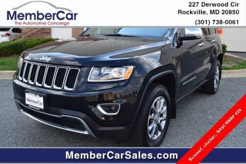 2016 Jeep Grand Cherokee for sale at MemberCar in Rockville MD