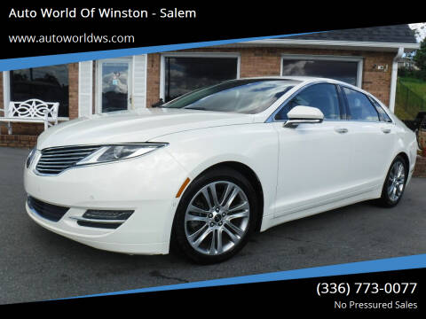 2013 Lincoln MKZ for sale at Auto World Of Winston - Salem in Winston Salem NC