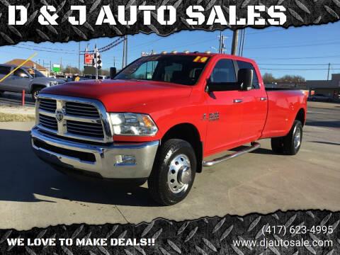 2014 RAM Ram Pickup 3500 for sale at D & J AUTO SALES in Joplin MO