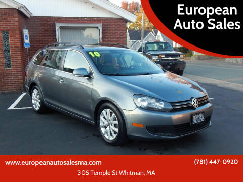 2010 Volkswagen Jetta for sale at European Auto Sales in Whitman MA